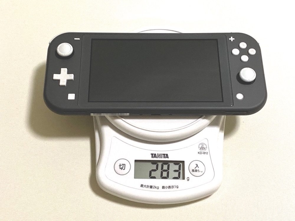 Nintendo Switch Lite 重量